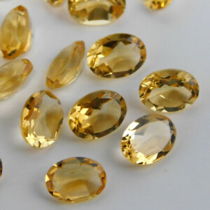 SALE-Lovely-Lot-Natural-Citrine-7x9-mm-Oval-Cut-Faceted-Loose-Gemstone