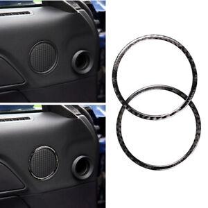 Carbon-Fiber-Door-Speaker-Ring-Trim-Frame-Cover-Sticker-For-Ford-Mustang-15-17