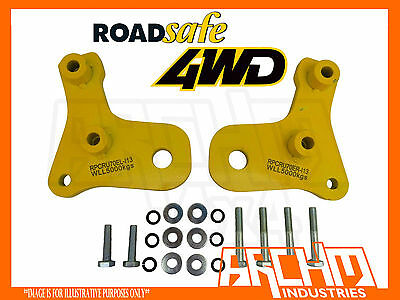 ROADSAFE PAIR OF HEAVY DUTY TOW POINTS SUITS TOYOTA LANDCRUISER 76/78/79 SERIES