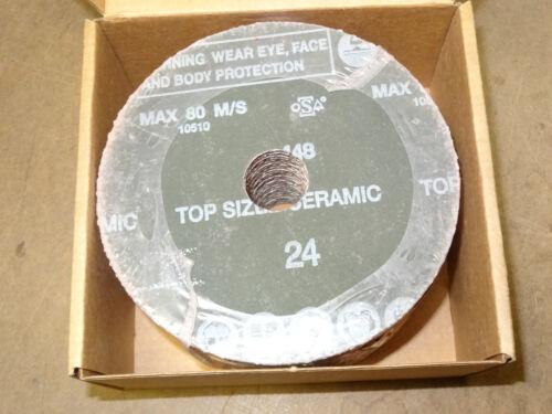 "25 new CAMEL CGW 5/"" x 7//8/"" Resin Fibre fiber Sanding Discs 24 Grit Ceramic Blend"