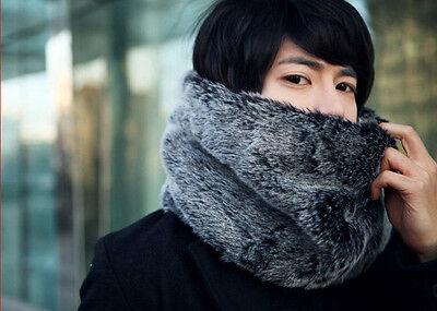 New Men Women's Fashion Winter Warm Scarf High Qaulity Faux Fur Unisex Muffler