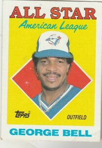 FREE-SHIPPING-MINT-1988-BLUE-JAYS-Topps-390-George-Bell-ALL-STAR-BONUS-CARDS