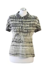 John Galliano Oberteil Damen Poloshirt Gr. M (38) Mehrfarbig T-Shirt