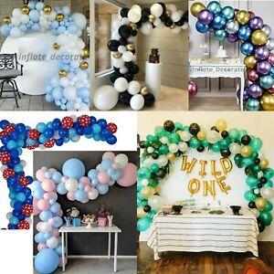 100 pcs Balloons+Balloon Arch Kit Set Chrome Macaron Baloons Wild One Garland