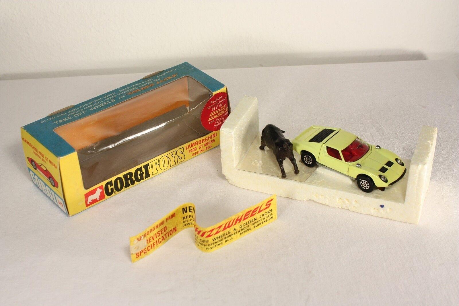 nelle promozioni dello stadio CORGI giocattoli giocattoli giocattoli 342, Lamborghini Miura, Mint in scatola  ab549  spedizione gratuita