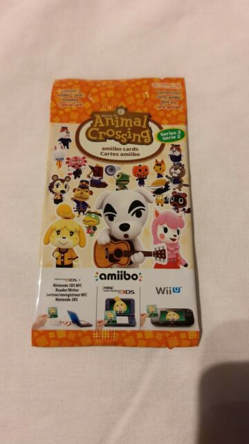 Nintendo OFFICIAL Animal Crossing amiibo Series 2 cards pack. Brand new. Sealed