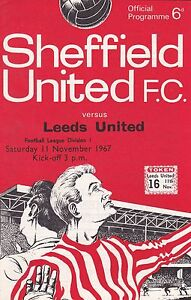 SHEFFIELD-UNITED-v-LEEDS-UNITED-11-NOVEMBER-1967-EXCELLENT-CONDITION