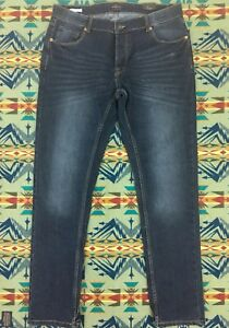 Fit Joy Solid Jeans Nwt 36x34 Designer Lavage Fonc Slim Journey Bouton Denim 6Y8gYqw