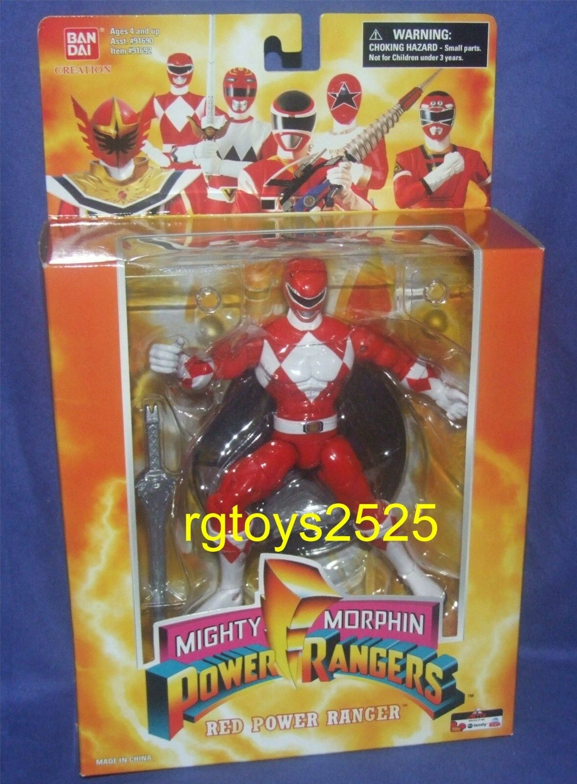 Mighty Morphin energia Rangers 7 rosso energia Ranger nuovo w Ste Factory Sealed 2006
