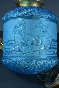 Lampe-Lanterne-signee-Baccarat-Bleu-petrole-Russian-Troika-hanging-lantern-19e