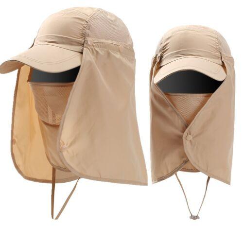 Unisex Outdoor Sport Fishing Hiking Hat UV Protection Face Neck Flap Men Sun Cap