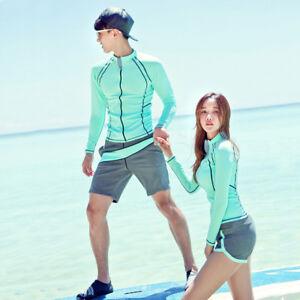 6e0ad980753 Long Sleeve Rash Guard Surf Shirts Swim Top Swimwear + Board Shorts ...