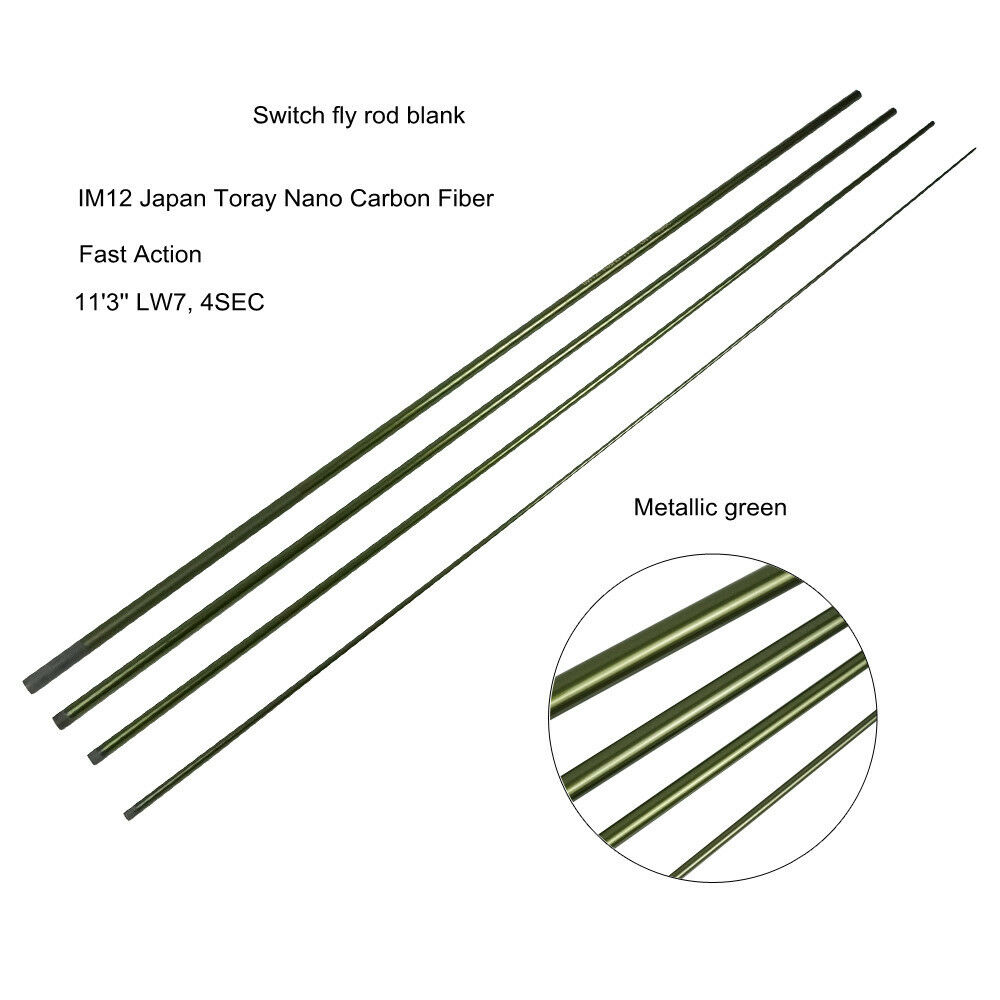 Aventik IM12 Nano Switch Fly Rod Blanks 11'3'' LW7, 4SEC Fast Action