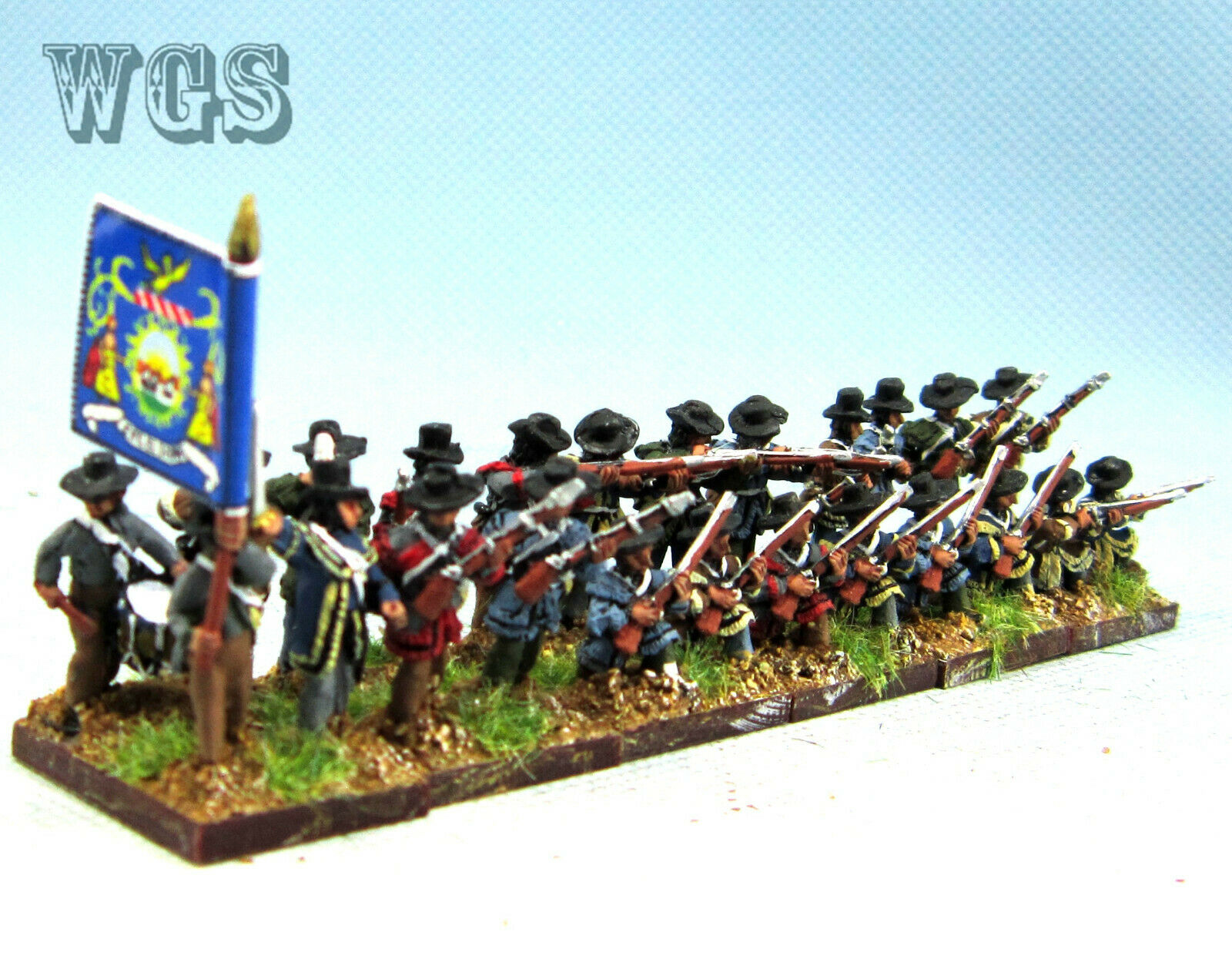 15mm American War of Independence WGS målad tysk infanteriman AAAA3