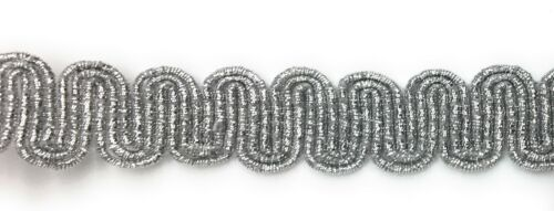 Ric Rac Metallic Silver Braid Trim BTY