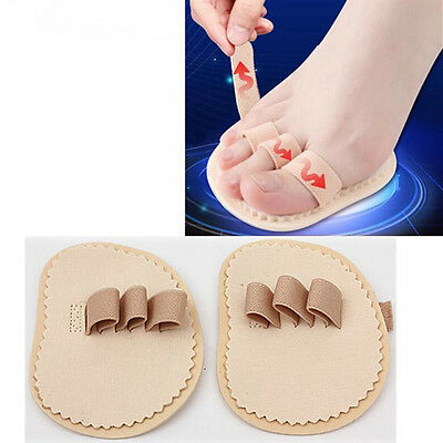 1Pair Foot Triple-Toes Straightener Hammer Toe Protector Insoles Foot Feet Care