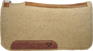 1  CONTOURED COWBOY WOOL WESTERN RANCH ROPING SADDLE PAD BY DIAMOND WOOL PADS
