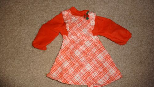 1970/'s Ideal Crissy Doll Orange /& White Dress with Flower