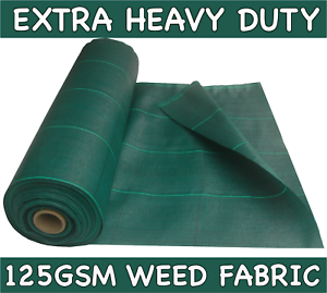 Various-Sizes-GREEN-125GSM-Extra-Heavy-Duty-Weed-Control-Driveway-Garden-Fabric