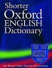 Shorter Oxford English Dictionary by Oxford University Press (Hardback, 2002)