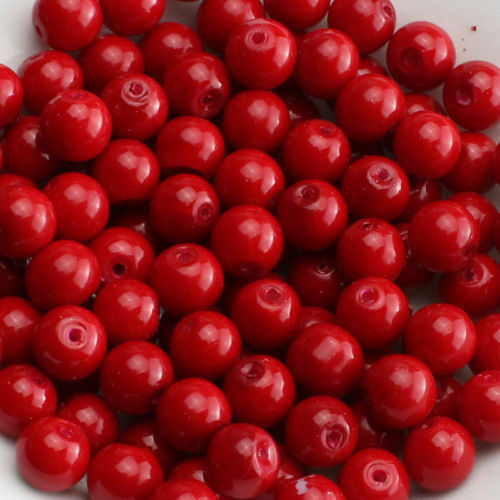 New Glass Pearl Round Spacer Loose Beads 200x4mm100x6mm50x8mm30x10mm Multi Color