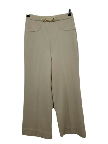 Jantzen Womens Vtg Pants Size 12 Light Beige High