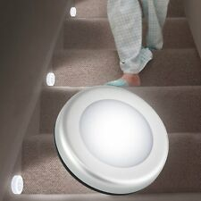 3x 6LED Wireless Motion Sensor Battery Powered Night Light Wall Cabinet Lamp DE
