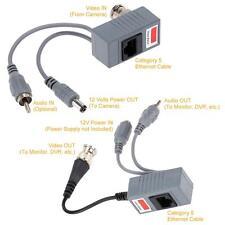 CCTV Audio Video Power Balun Transceiver BNC UTP RJ45 over CAT5/5E/6 Cable 87Z0