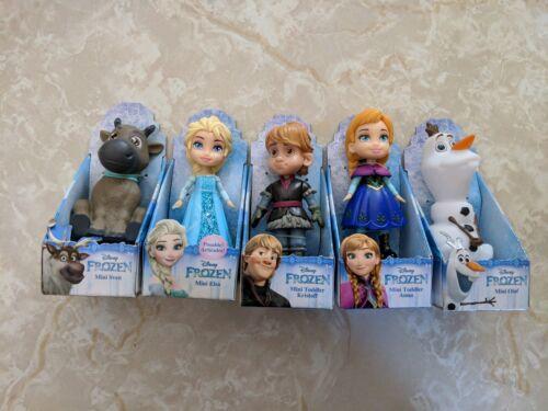Disney Frozen Mini Toddler Doll GLITTER Elsa ANNA SVEN KRISTOFF Olaf Set LOT