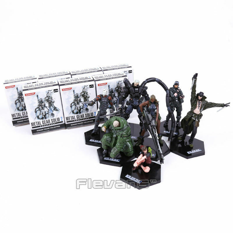 METAL GEAR SOLID 2  SUBSTANCE - MGS2 - SET 7 FIGURAS   7 FIGURES SET
