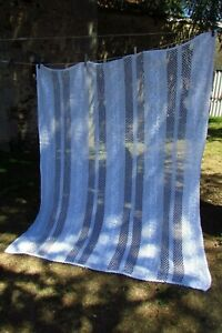 Beautiful-Antique-French-Hand-Crafted-Cotton-Crochet-Curtain-Throw-5ft-x-6ft