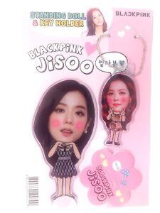 Jisoo Blackpink Schwarz Pink Foto Stehend Puppe Schlussel Halter