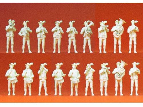 Preiser 16353 Bayrische Volksmusik 18 Figuren unbemalt Kapelle Orchester H0 Neu