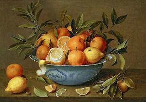 Oil-painting-Hand-painted-still-life-fruits-Oranges-lemons-in-porcelain-bowl