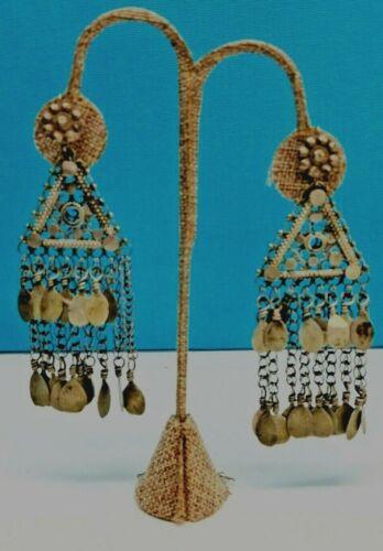 Antique Sterling Silver Chandelier Dangle Earrings