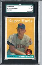 1958 Topps Baseball #47 Roger Maris Rookie Card SGC 80