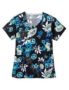 44ea1d8d488 Bio Women's Scrub top Style 5071-3232 ( Blue Ming ) Sizes M-5X | eBay