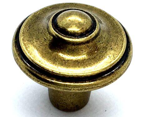 77 POINTED KNOBS 30mm antiqued brass cupboard cabinet drawer dresser door Knob