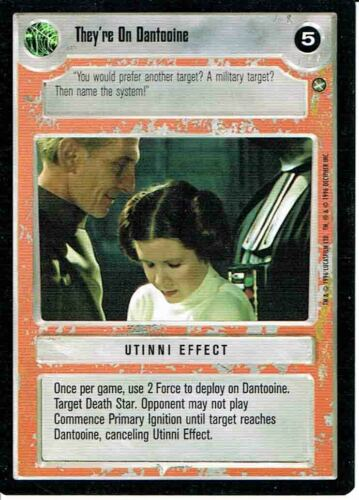 STAR WARS CCG A NEW HOPE BLACK BORDER THEY/'RE ON DANTOOINE