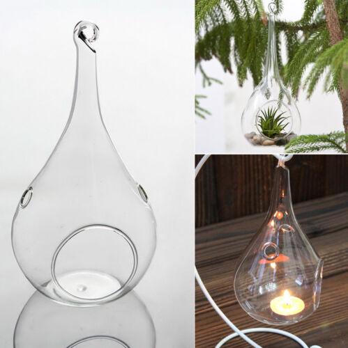 6-er Teelichthalter Teardrop Glas Windlicht Pflanzenkugel Kerzen Halter Ständer