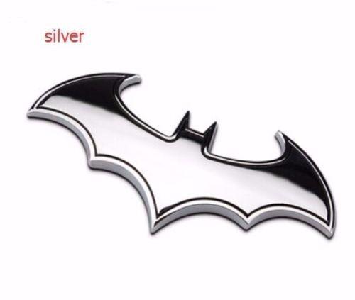 1pcs New Car Auto Logo 3D Metal stickers Emblem Badge Decals Batman bat silver