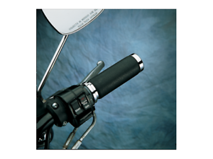 Drag Specialties Texture Black Grips 77-19 Harley FXD FLH FXR FLTR FXST XL FXR