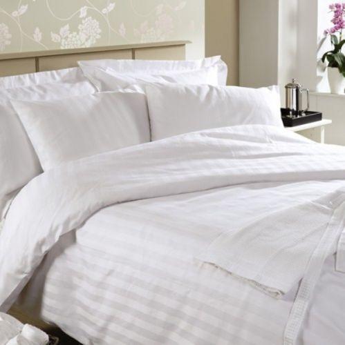 Ramco 500TC 500TC 500TC Egyptian Cotton Hotel Quality KING QUEEN Sheet Set in Weiß Stripe b4f0e5