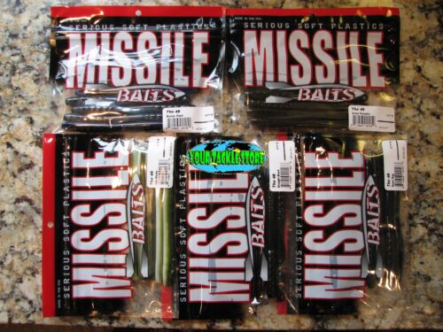 "Missile Baits The 48 NIP 4.8/"" 8pack You Pick Color /& Quantity"