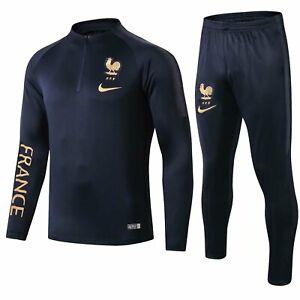 France-Mens-Royal-Blue-Training-Soccer-Sports-Jersey-Jacket-Tracksuit-Sets