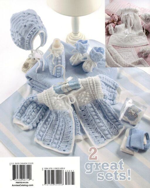 ANNIE'S/ Heart's Delight Baby Layettes/Christening/Crochet Pattern Instructions