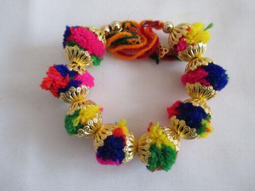 Weeding Ganas-NT6 Multicolour Pom Pom Bracelet