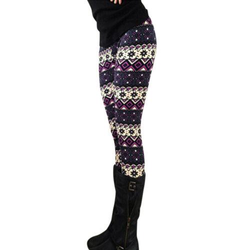 Punk Gothic Women Leggings Hollow Star Print Elastic Pencil Pants Trousers Black