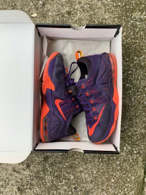 cheap for discount cd548 1fa8c NIKE LEBRON JAMES XII LOW (12) THE TWELVE purple/orange size 6.5Y youth