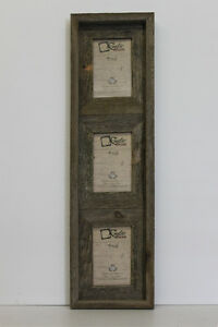 4x6 25 Wide Reclaimed Rustic Barn Wood Vertical Collage Frame